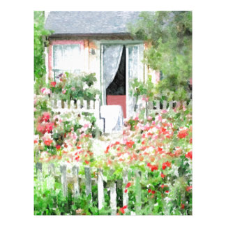 Rose Cottage Personalized Letterhead