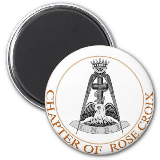Rose Croix  Symbol 2 Inch Round Magnet