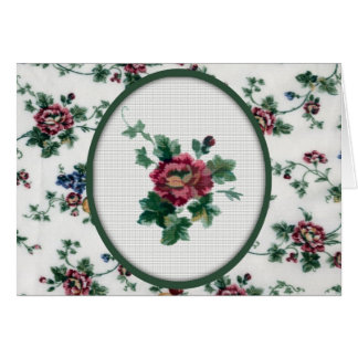 Rose Cross Stitch Birthday Card