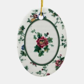 Rose Cross Stitch Ornament