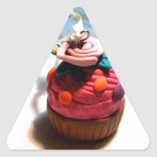 Rose Cupcake Triangle Stickers