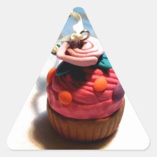 Rose Cupcake Triangle Sticker