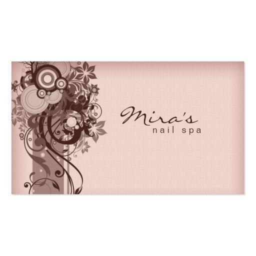 Rose de toile de Brown de carte de visite floral