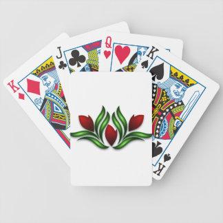 Rose Design Bicycle Playing Cards