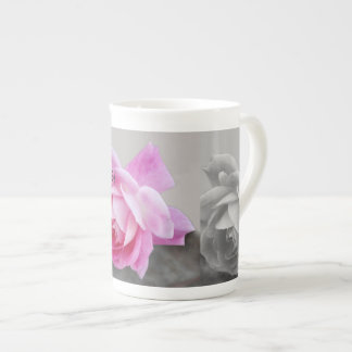 Rose design tea cup