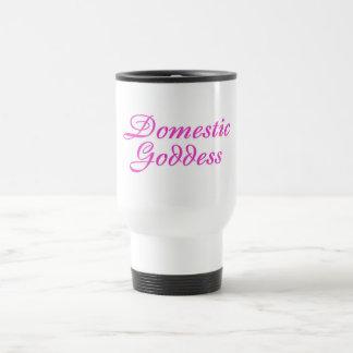 Rose domestique de déesse mug de voyage en acier inoxydable