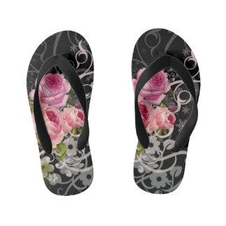 Rose Elegance Kid's Flip Flops