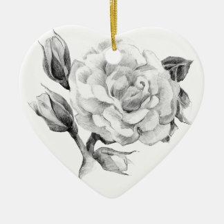 Rose. Elegant floral stylish rustic vintage image Ceramic Ornament