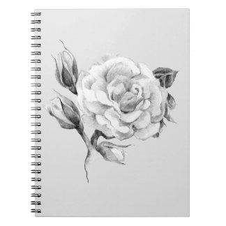 Rose. Elegant floral stylish rustic vintage image Notebook