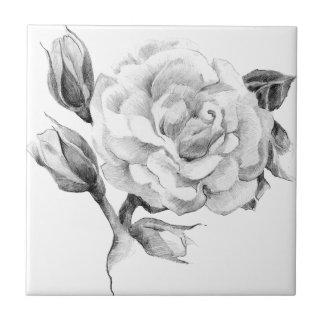Rose. Elegant floral stylish rustic vintage image Tiles