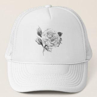 Rose. Elegant floral stylish rustic vintage image Trucker Hat