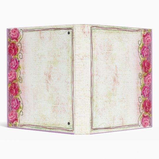 Rose Embroidary Album/Binder 3 Ring Binder