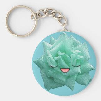 rose emoji keychain