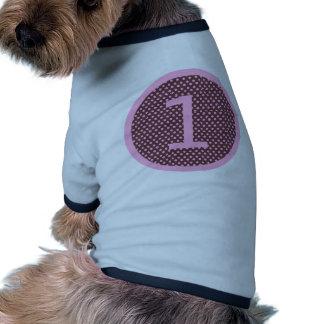 Rose et anniversaire UN de Brown premier T-shirt Pour Animal Domestique