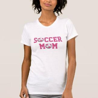 Rose et blanc de ballon de football de la maman v2 t shirt