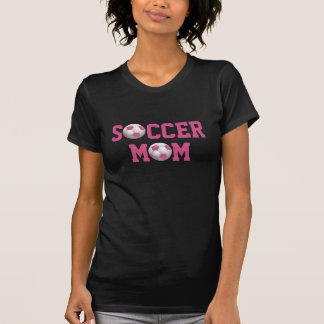 Rose et blanc de ballon de football de la maman v2 tshirt