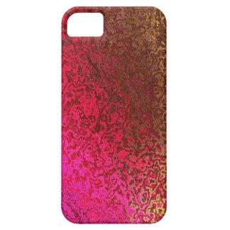 Rose et cas de l'iphone 5 de miroitement d'or iPhone 5 case