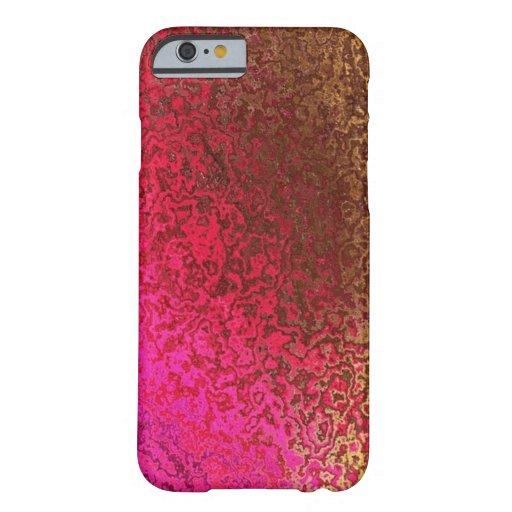 Rose et cas de l'iPhone 6 de miroitement d'or Coque iPhone 6 Barely There
