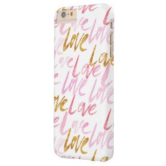 Rose et cas de téléphone d'amour d'or coque iPhone 6 plus barely there