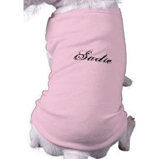 Rose et impertinent tee-shirt pour chien