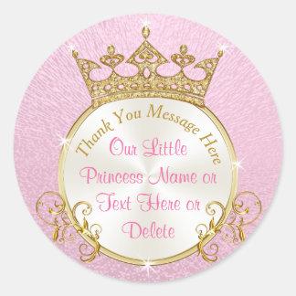 Rose et princesse personnalisée par or Stickers