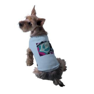 Rose et Teal de motif de Paisley T-shirts Pour Toutous