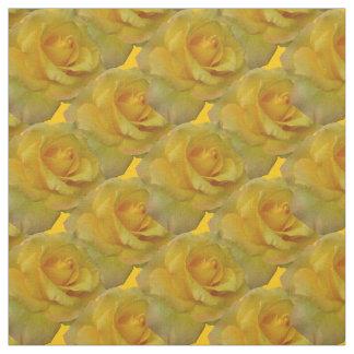 Rose Fabric Yellow Rose Fabric Gold Flower Fabric