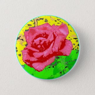 Rose Face 2 Inch Round Button
