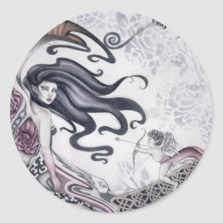 Rose Faery Round Sticker