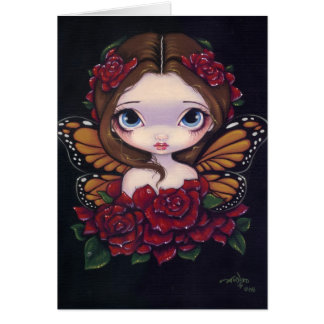 """Rose Fairy"" Greeting Card"