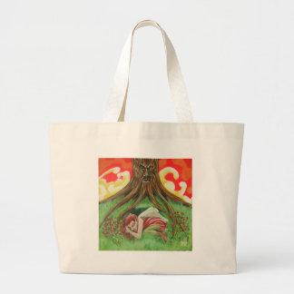rose fairy sleeps large tote bag