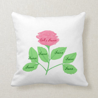 Rose Family Tree & Beautiful Design on Back Throw Pillow
