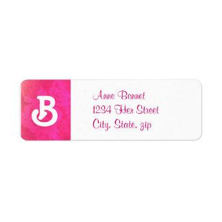 Rose Fantasy address label