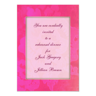 Rose Fantasy WEDDING rehearsal dinner invitation