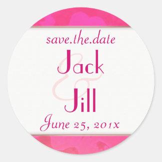 Rose Fantasy WEDDING Save The Date Round Sticker