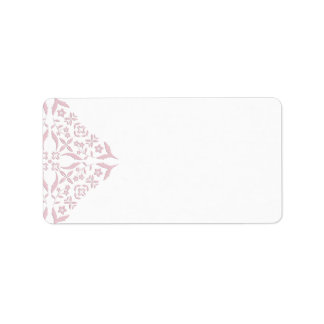 Rose Filigree Blank Address Labels