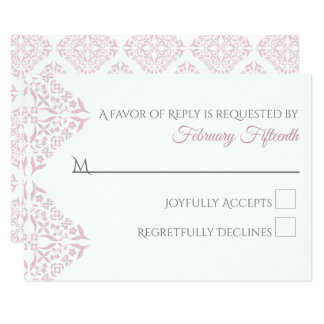 Rose Filigree RSVP card