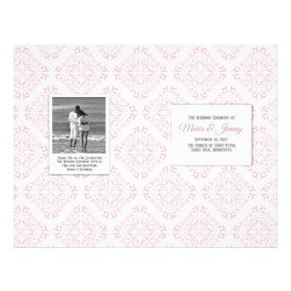 Rose Filigree Wedding Program Flyer