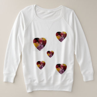 Rose Filled Heart Plus Size Sweatshirt