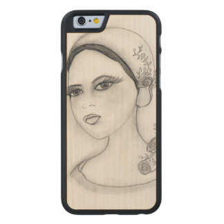 Rose Flapper Carved® Maple iPhone 6 Slim Case