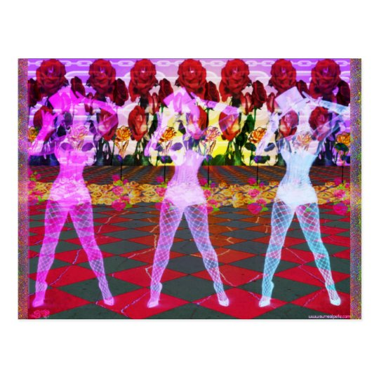 Rose Floor Dancers Postcard
