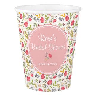 Rose Floral | Bridal Shower Paper Cup