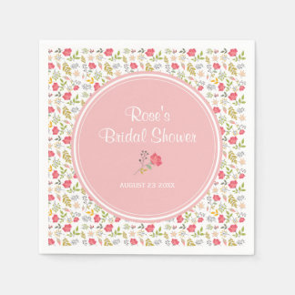 Rose Floral | Bridal Shower Paper Napkins