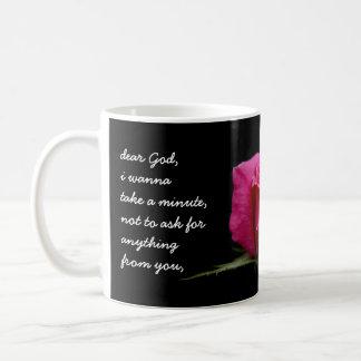 Rose floral de rose, cher Dieu….Merci pour… Mug À Café