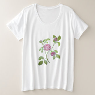 Rose Floral Plus Size Women's Plus Size T-Shirt