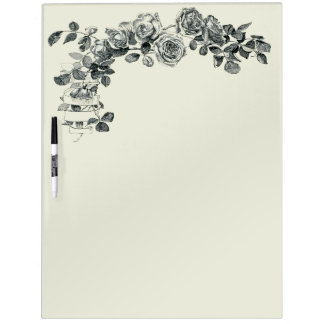 Rose Floral Ribbon Wreath Flower Bouquet Dry Erase Board