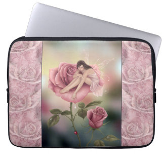 Rose Flower Fairy Art Laptop Sleeve