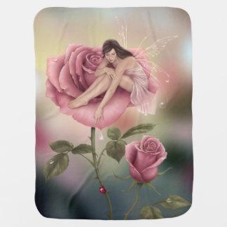 Rose Flower Fairy Baby Blanket