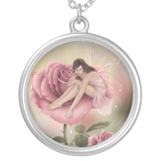 Rose Flower Fairy Necklace