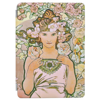 Rose Flower Girl Alphonse Mucha Fine Art iPad Air Cover